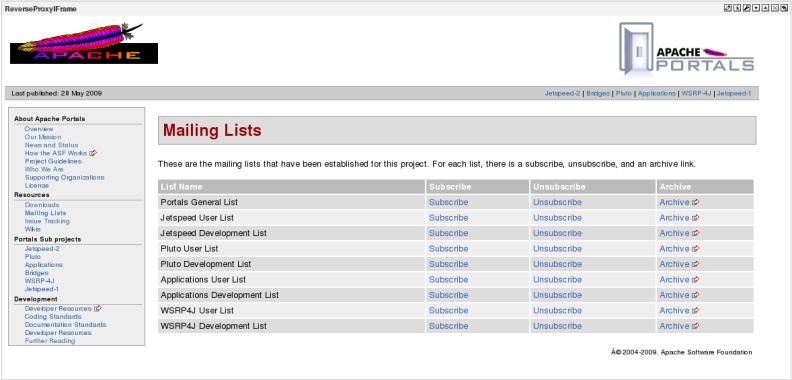 Apache Portals Applications - Apache Portals Web Content Application