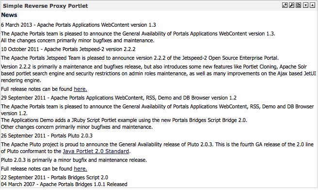 Apache Portals Applications - Apache Portals Web Content