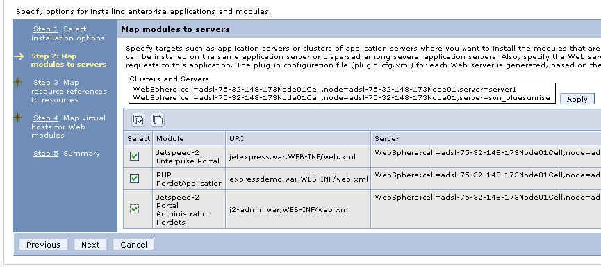 Jetspeed Deployers Guide - Deploying Jetspeed to Websphere